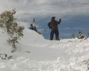 backcountry skiing mount mansfield stowe vermont